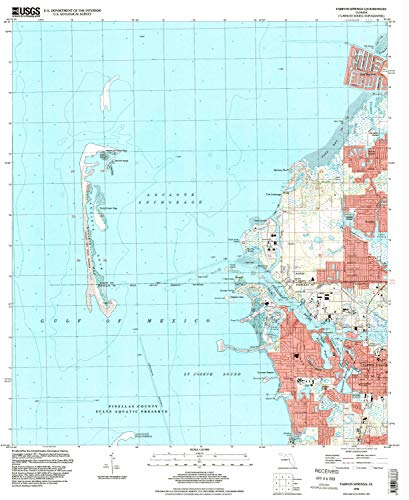 YellowMaps Tarpon Springs FL topo map, 1:24000 Scale, 7.5 X 7.5 Minute, Historical, 1995, Updated 1998, 26.8 x 21.9 in - Tyvek (Park Victor Florida)