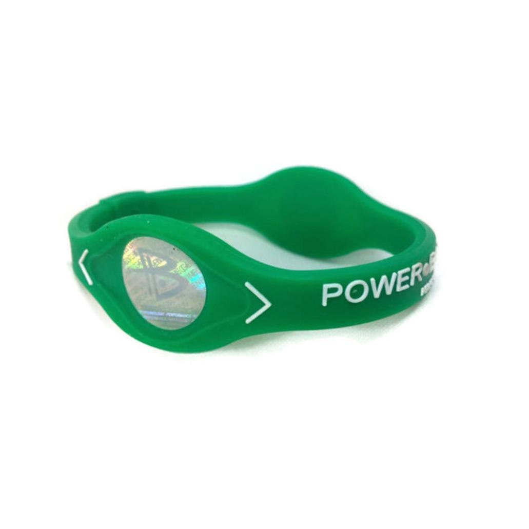 Diadia Power Balance Silicone Wristband Bracelet to Improve Energy and Body Balance in Sports Men or Women. (Black, 160mm)