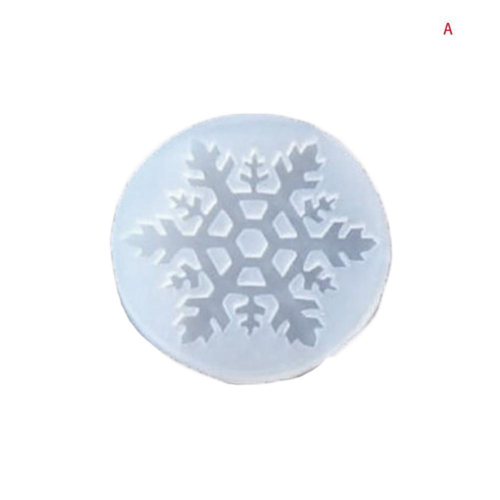 BleuMoo 5Pcs Snowflake Shapes DIY Liquid Resin Molds for Jewelry Making Craft