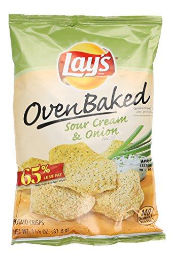 Lay's Oven Baked Potato Crisps, Sour Cream & Onion, 1.125 oz