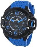 Joshua & Sons Men's 'Swiss Quartz Silicon Strap Metal and Rubber Sport Watch, Color:Blue (Model: JS-39-BU)