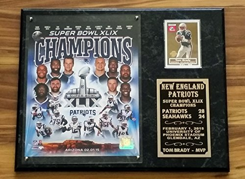 DELUXE NEW ENGLAND PATRIOTS SUPER BOWL XLIX CHAMPIONS TEAM COLLAGE COLOR PHOTO (Champions Team Plaque)