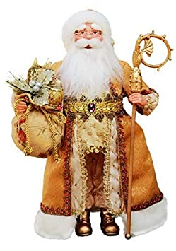Windy Hill Collection 16 Inch Standing Gold Santa Claus Christmas Figurine Figure Decoration 41605