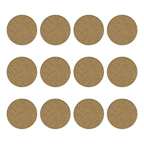 12 PCS Blank Reusable Absorbent Cork Drink Coasters DIY Project Tile Craft Board Home Bar Restaurant Cafe Wedding Supplies