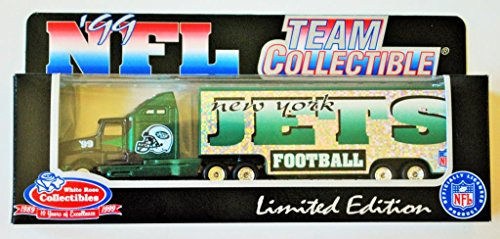 New York Jets 1999 NFL White Rose Diecast Kenworth Tractor Trailer 1/80 Scale Truck Collectible Football Team Car
