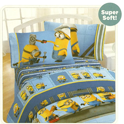 (Despicable Me Minions Twin Size Sheets Set - Industrial)