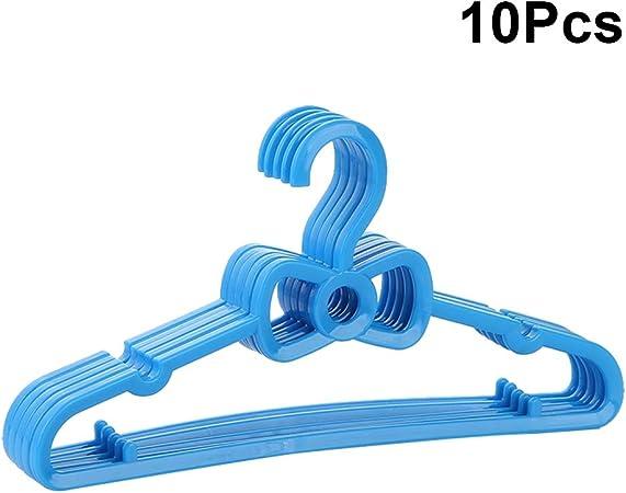 OUNONA 10PC Appendini per Bambini con Fiocco in plastica Piena Hangers Kids Home Hangers Clothes Hanging Rack Grucce per Bambini,Blu