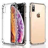 Ainope Case Compatible iPhone Xs Max, [Airbag] Case Compatible iPhone Xs Max Crystal Clear Case Cover Shock Absorption Soft TPU Full Protective Cover Case Apple iPhone Xs Max (Transparent)