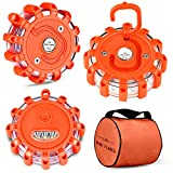 ATUP LED Road Flares Emergency Disc with Magnetic Base and Hook Roadside Safety