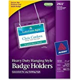 Avery Photo ID Badge Holders, 3 x4 Inches, Box of 100 (2922)