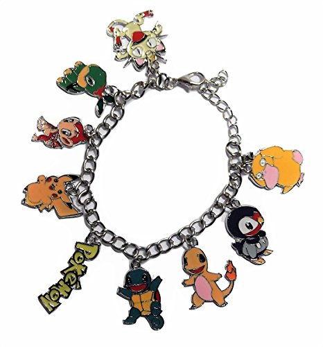 Pokemon Video Game Series Assorted Metal Charms BRACELET