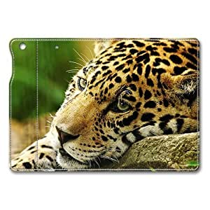 iPad Mini Smart Case,Lovely Leopard Premium Leather Folio Stand Flip Cover Case for iPad Mini, Original Design And Made By PhilipHayes