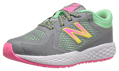 New Balance Kids' KJ720 Running Shoe, Grey/Pink/Green, 1.5 Medium US Little Kid by New Balance