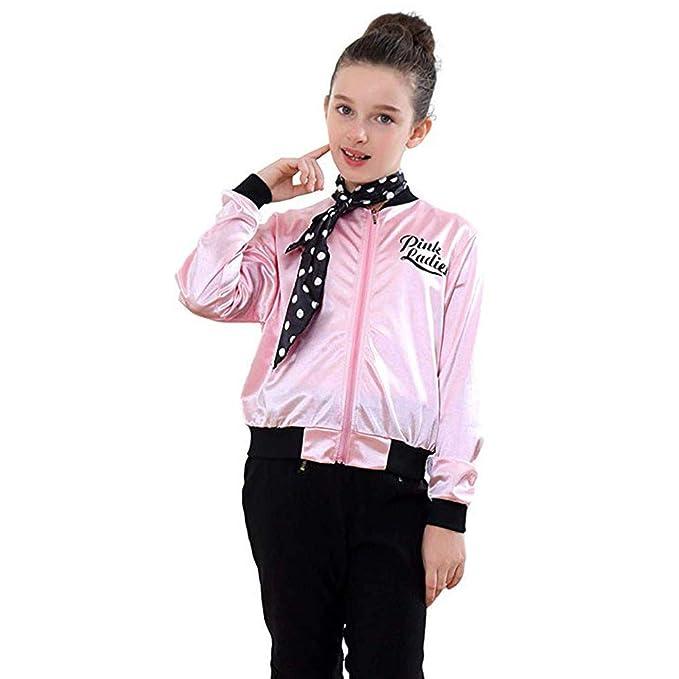 Amazon.com: Rucan Little Girls Pink Ladies Print Jacket ...