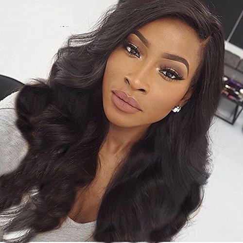 [Prime Kitty Body Wave Human Hair Lace Front Wigs For Black Women Brazilian Remy Human Hair Glueless Front Lace Wigs With Baby Hair 130% Density 12