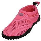Women's Wave Water Shoes Pool Beach Aqua Socks, Yoga , Exercise 1155L Pink 6