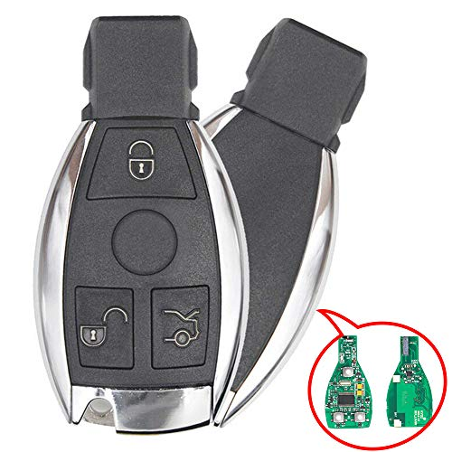 Beefunny New Replacement Remote Car Key Fob 433MHz for Mercedes-Benz Support NEC And BGA 2000+ Year, 705 Moto