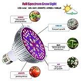 GLIME LED Grow Light Bulb 50W 78LED Full Spectrum