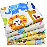 "iNee Zoo Animals Fat Quarters Fabric Bundles, Animal Fabric for Sewing Crafting, 18""x22"""