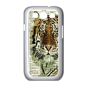 The king of beasts Tiger Hard Plastic phone Case Cover+Free keys stand For Samsung Galaxy S3 ZDI038950