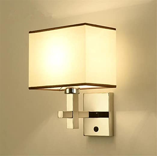 KDLD Wall Lights ® Wall Lights Modern E27 Bedside Fabric Lampshade ...