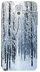 LKPOP White Snow Beautiful Cases / Covers Best Gift For Christmas Fashion Lovely Present Different Cell Phone Case For Samsung Galaxy Note 3 N3 No 5