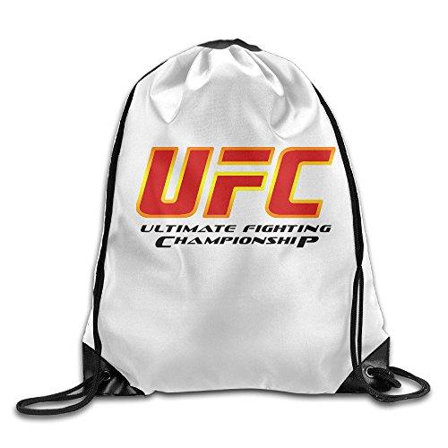 IYaYa Ultimate Fighting Logo Drawstring Backpack Sports Bag