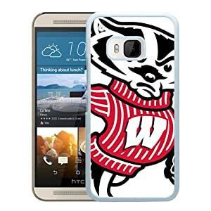 Popular And Unique Custom Designed Case For HTC ONE M9 With Ncaa Big Ten Conference Football Wisconsin Badgers 8 White Phone Case