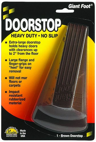 Master Caster Giant Foot Doorstop, 6.75 x 3.5 x 2 inches, Brown, 1/pk (00964)