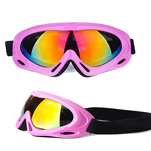 - Feier Yusi Adult Professional Ski Goggles Snowmobile Snowboard Skate Snow Skiing Goggles with 100% UV400 Protection Bright lens TPC Frame Material Anti Sand Wind & UV Suitable Hiking Surfing Skiing