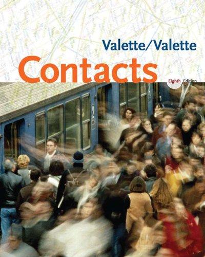 Download Contacts: Langue et culture françaises Pdf