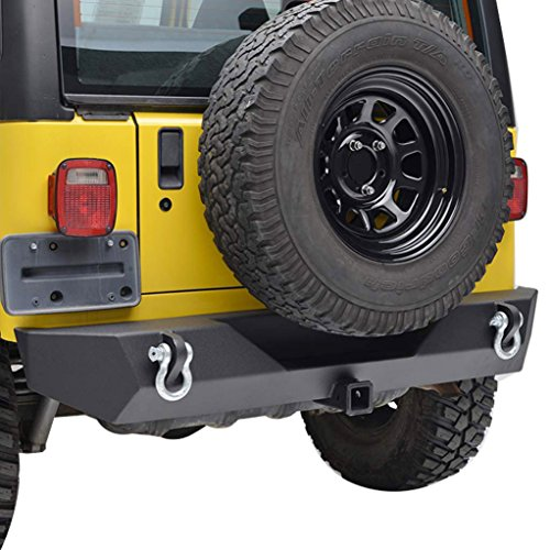 E-Autogrilles TJ YJ Jeep Wrangler Black Textured Off Road Rear Bumper