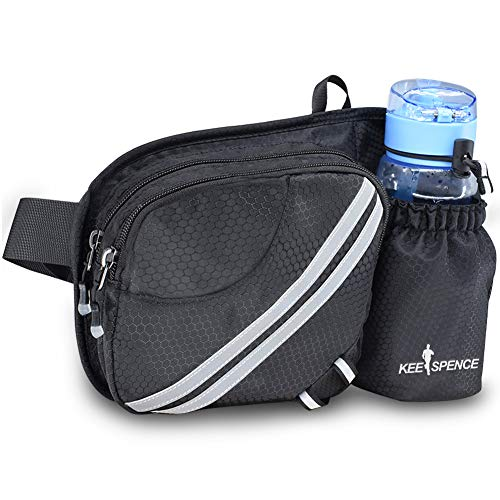 Hiking Fanny Pack, Waist Bag with Water Bottle Holder for Men Women Outdoors Walking Running, Dog Fanny Pack, Fit iPhone Xs Max Screen Size 6.5inch