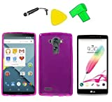 TPU Flexible Skin Phone Cover Case Cell Phone Accessory + Extreme Band + Stylus Pen + LCD Screen Protector + Yellow Pry Tool For LG G Stylo LS770 / LG G4 Stylus H631 (Frost Pink) -  ExtremeCases