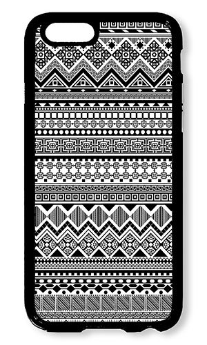 Reg Patterned - iPhone 6 Plus Case AOFFLY® Black and White Aztec Tribal Patterned Black PC Hard Case For Apple iPhone 6 Plus 5.5Inch