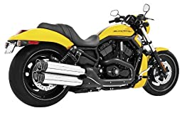 Freedom Performance Racing Black with Chrome Tip Slip-On Muffler for Harley Dav - One Size