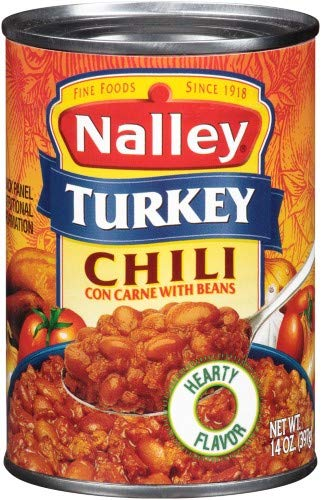 Nalley Turkey Chili Con Carne with Beans (Pack of 4)