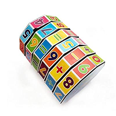 Corgy Cylindrical Math Puzzles Cube Children Arithmetic Game Kids Educational Toy Mathematics & Counting: Toys & Games