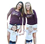 Anboo Mom&Me Family Clothes, Mom/Mini Boss Print Matching Shirt Tops Outfits