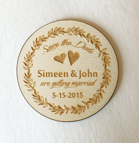 25 Wreath Wedding Save the Date Magnets - Wedding -