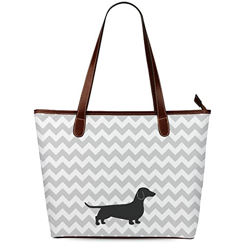InterestPrint Dachshund Dog Tote Shoulder Bag for sale  Delivered anywhere in USA