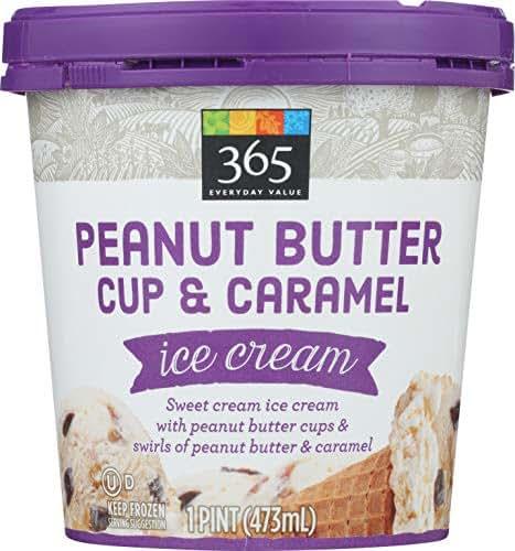 365 Everyday Value, Peanut Butter Cup & Caramel Ice Cream, 16 oz (Frozen)
