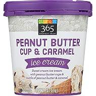 365 Everyday Value Peanut Butter Cup & Caramel Ice Cream, 16 oz (Frozen)