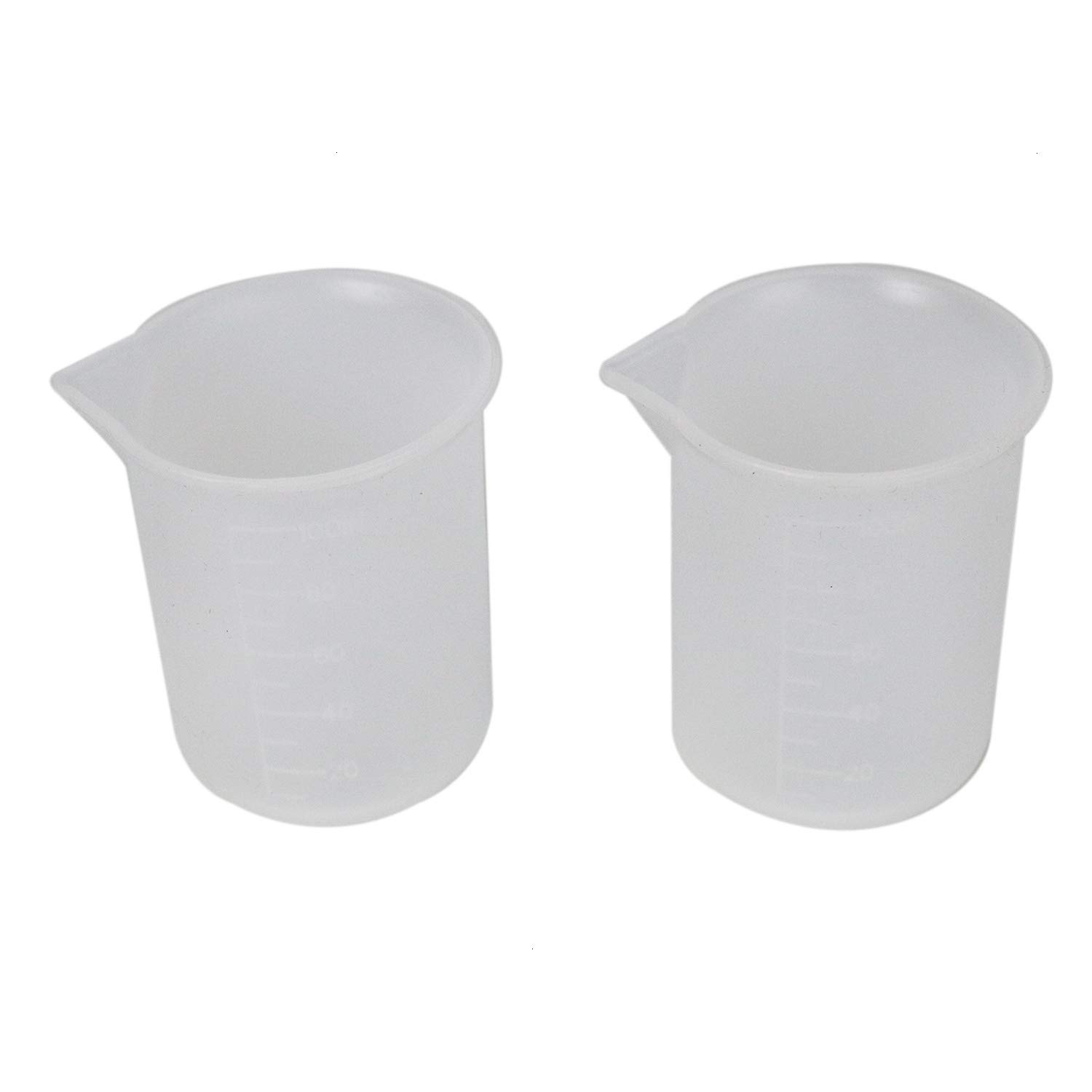 HUELE 2pcs 100 ml Measuring Cup Silicone Mold Resin Glue Tools DIY Resin Glue Tools Cup Jewelry Tools Resin Molds