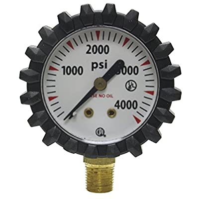 Uniweld G56D 1-1/2-Inch  4000 PSI Oxygen Replacement Contents Gauge with Protective Rubber Gauge Boots: Home Improvement