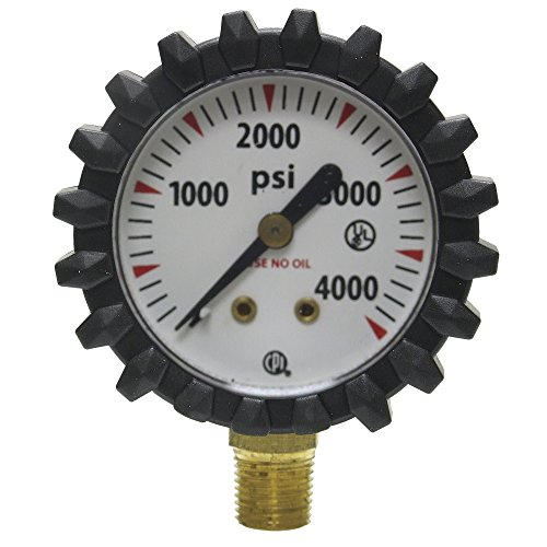 Uniweld G56D 1-1/2-Inch  4000 PSI Oxygen Replacement Contents Gauge with Protective Rubber Gauge Boots ()