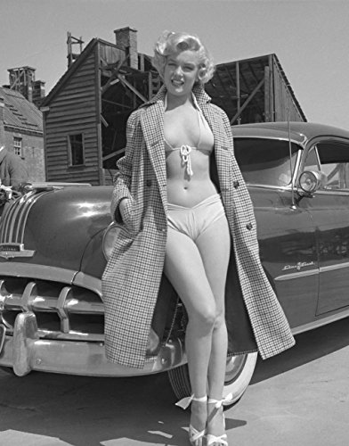 Metal Tin Sign 8x10 From A Photo Or Poster Marilyn Monroe In A Bikini With A Miror Finish