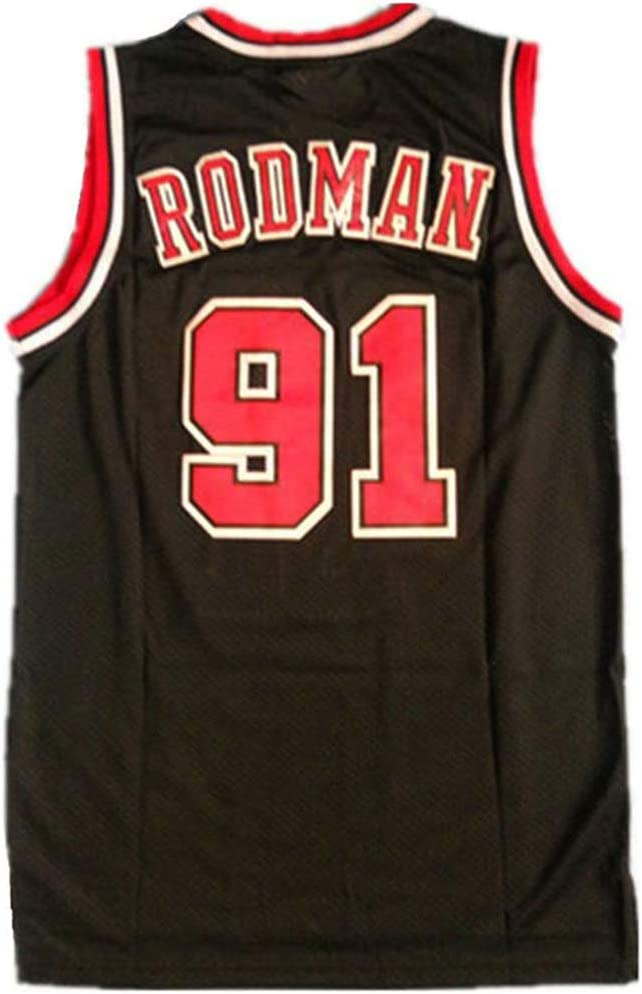 S-XXL FILWS Chicago Bulls # 91 Jersey-Dennis Rodman Jersey De Baloncesto Sin Mangas Retro Chaleco De Baloncesto Camisa Traje De Baloncesto para Hombres