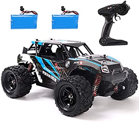 Remoking Rc Car 4wd 1 18 Scale 2 4ghz Radio High Speed 25mph For All Terrain Anti Interference Electronic Off Road Truck With 2 Rechargeable Batteries Great Gifts For Kids And Adults Amazon Com Au Toys Games