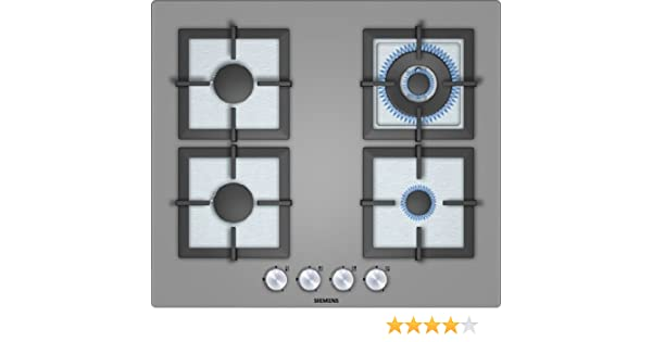 Siemens EP618HB21E hobs - Placa (Integrado, Gas, Vidrio, 1m, 7700W, 220-240V) Titanio: Amazon.es